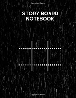 Story Board Notebook: Clapperboard and Frame Sketchbook Log Book Guide Template Panel Pages Book and 4 Frames Per Page For...