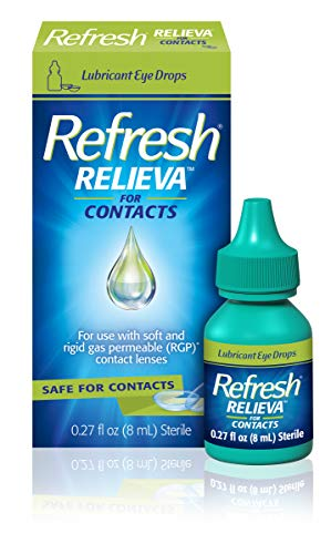 Refresh Relieva for Contacts Lubricant Eye Drops For Dry Eyes, 0.27 Fl Oz Sterile