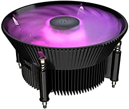 Cooler Master i71C RGB for Intel CPU Air Cooler, Anodized Black Aluminum Fins, Copper Insert, MF120 RGB Fan, RGB Lighting for Intel LGA1151