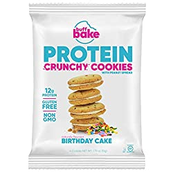 Protein Sandwich Cookies - 12 Grams of Whey Protein Snacks, Gluten Free, Non-GMO (Birthday Cake, 8 Count, 1.79 oz)