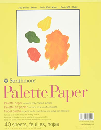 """Strathmore 365-9 300 Series Palette Pad, 9""""x12"""" Tape Bound, 40 Sheets"""