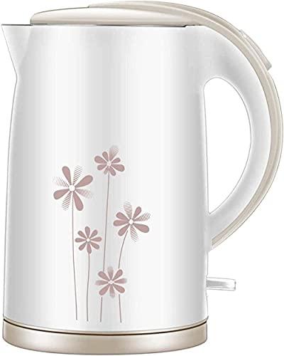 Waterkoker, Roestvrijstalen ketel geruisloze ketel 1 7L 1500-2000W BPA-vrij, snel kokend, energiebesparende automatische uitschakelfunctie, bescherming tegen droogte