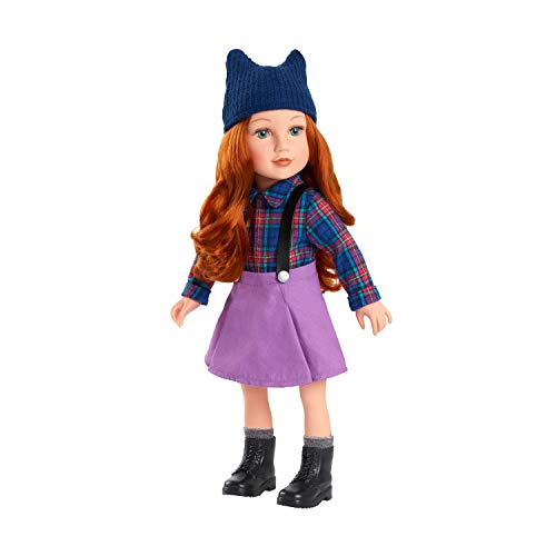 Journey Girls 18 Inch Kelsey Hand Painted Doll with Red Hair and Green Eyes, Amazon Exclusive
