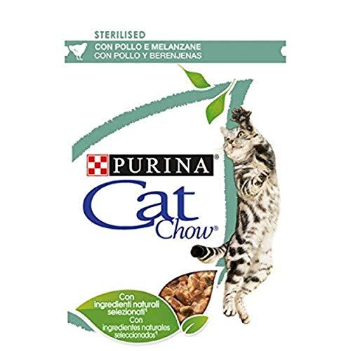 Purina Cat Chow Comida Húmeda para Gatos Esterilizado con Pollo, 26 x 85 gr ✅