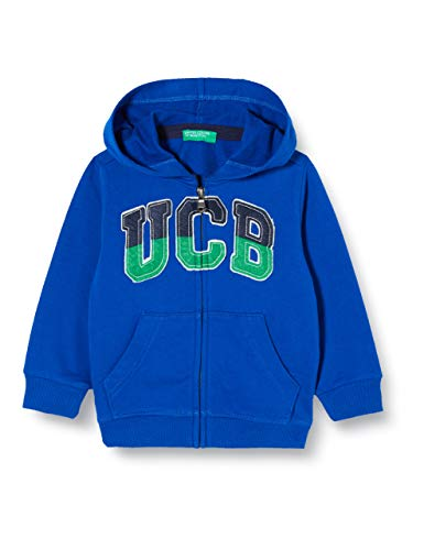 United Colors of Benetton Baby-Jungen Felpa Zip Strickjacke, Blau (Surf The Web 19r), 86/92 (Herstellergröße: 2y)