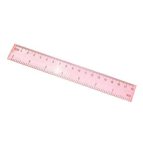 De oro rosa de 18 cm de gama alta de la regla de medición Escala retro Tamaño Regla con las medidas en pulgadas Cm Regla