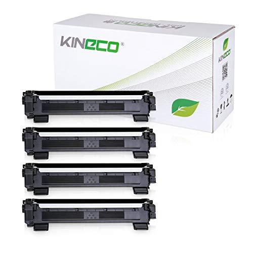 Kineco 4 Toner kompatibel für Brother TN1050 TN-1050 für Brother DCP-1512, HL-1112, DCP-1510, HL-1110 R, MFC-1810, MFC-1815 - Schwarz je 1.500 Seiten