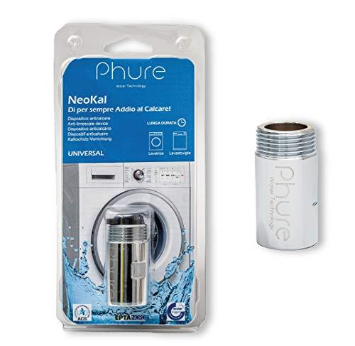 Phure NeoKal Dispositivo Anticalcare Universale per Lavatrice e Lavastoviglie, Magnete anticalcare, Magneti Neodimio, Universale 3/4'