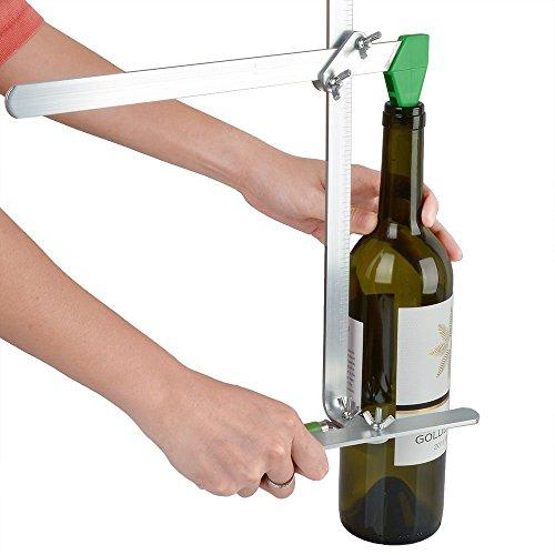 yosoo Schnitt Flasche Spiralschneider-Flasche Erdbeere für Flasche Wein Glas Maschine Schneiden von Flasche