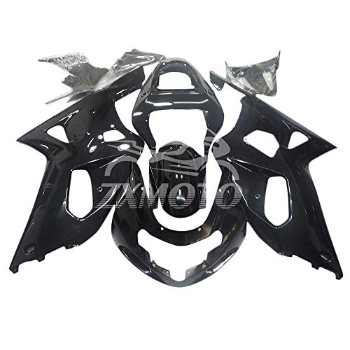 ZXMOTO Motorcycle bodywork Fairing Kit for Suzuki GSXR 600 / GSXR 750 2001 2002 2003 Gloss Black - (Pieces/kit: 9)