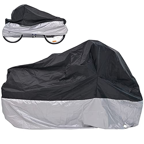 MOPHOTO Bike Cover Adult Tricycle Cover for Outdoor Bicycle Storage, Heavy Duty Waterproof Cover for Tricycle Trike Bikes.