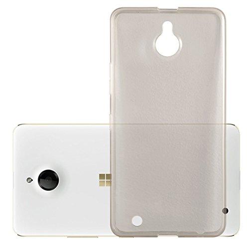 Preisvergleich Produktbild Cadorabo Hülle für Nokia Lumia 850 - Hülle in TRANSPARENT SCHWARZ Handyhülle aus TPU Silikon im Ultra Slim 'AIR' Design - Silikonhülle Schutzhülle Soft Back Cover Case Bumper
