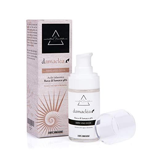 Isabella Monteluna Gesichtsserum mit 98% Schneckenschleim | Augen Anti-Aging, Feuchtigkeit, gegen Akne & Entzündungen | 100% Bio made in Italy | 30 ml Tag- und Nacht-Pflege
