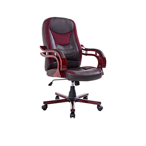 HOMCOM Bürostuhl Drehstuhl Bürosessel Chefsessel Stuhl Schreibtischstuhl Sessel Büro