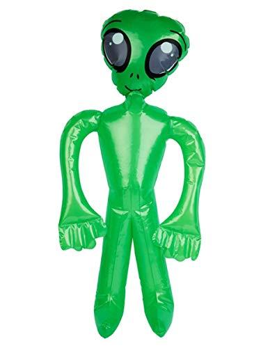 shoperama Inflable extraterrestre verde 75cm Alien Marsmensch Sci-Fi Marsianer Space