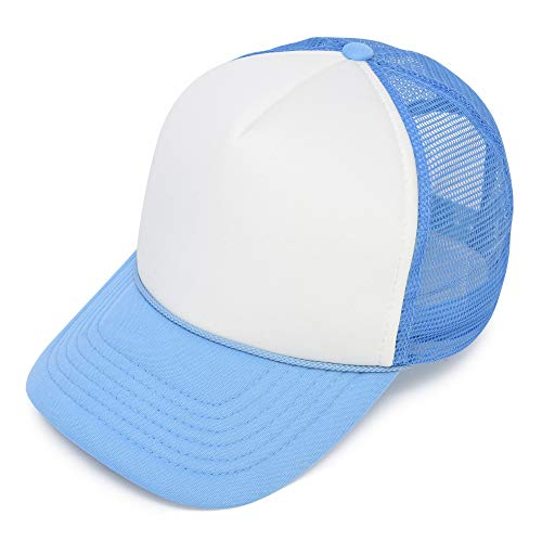 Two Tone Trucker Cap in Blue and White Hat