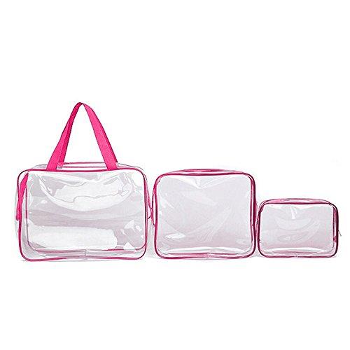 les articles de toilette des vacances Id/éal pour la/éroport Trousse de maquillage de voyage avec partie avant transparente et fermeture /Éclair le vol en cabine Nanshy transparent