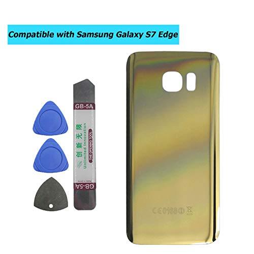 Upplus - Tapa Trasera Compatible con Samsung Galaxy S7 Edge G935V, Color Dorado