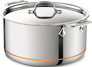 All-Clad 8-qt Copper Core Stock Pot with Lid (Second Quality)