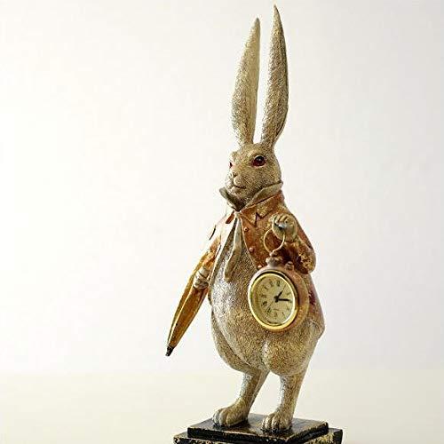 置時計 置き時計 おしゃれ かわいい うさぎ 置物 雑貨 オブジェ インテリア 可愛い 卓上 懐中時計 アナログ スタンドクロック ラビットクロック ロングイヤー