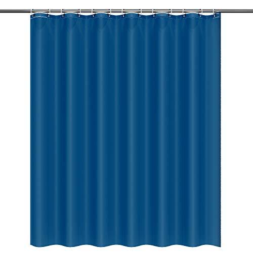 Htovila Duschvorhang 180x180 Anti-Schimmel Wasserdicht mit 12 Duschvorhangringe aus Waschbar Polyester Navy blau