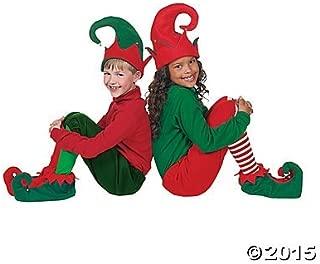 Santa's Helpers Elf Elves Shoes & Hat Costume Accessory Set [Toy]