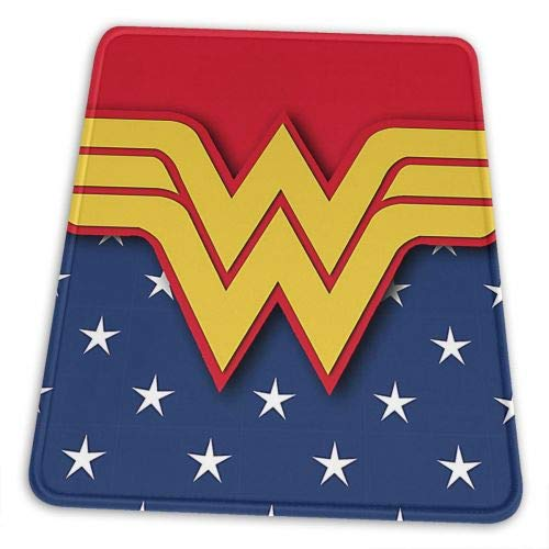 Wonder Woman Gaming Mouse Pad Non-Slip Rubber Stitched Edges Mousepad 12 X 10 X 0.12 inches Rectangle Mouse Mat Smooth Surface Mouse Pads