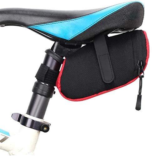 LILICEN 3 Color Nylon Bolsa Bicicleta Bicicleta Impermeable Almacén Sillín Bolsa Asiento Ciclismo Casero Bolsa Bolsa Sillín Bolsa Bicicleta Accesorios, Rojo