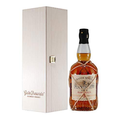 PLANTATION Rum Barbados 5J mit Geschenk-Holzkiste
