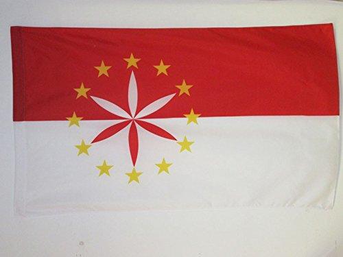 AZ FLAG Flagge ARPITANISCHE 90x60cm - FRANKOPROVENZALISCHE Fahne 60 x 90 cm Scheide für Mast - flaggen Top Qualität