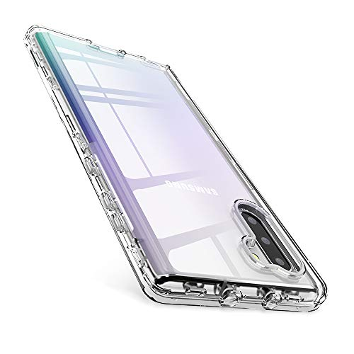 FLOVEME Samsung Galaxy Note 10 Case 6.3 inch, 3 in 1 Full Body Shockproof Protection Clear Phone Case Compatible with Samsung Galaxy Note 10 Armor Case Heavy Duty Bumper Cover