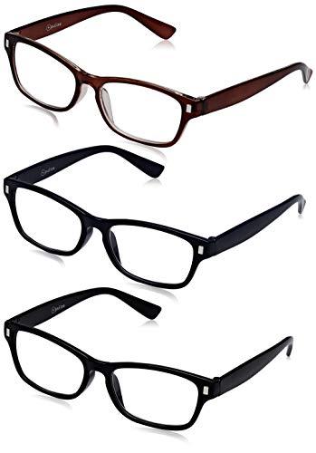 The Reading Glasses Company Gafas De Lectura Negro Marrón Azul Oscuro Lectores Valor Pack 3 Hombres Mujeres Rrr77-123 +2,00 3 Unidades 88 g