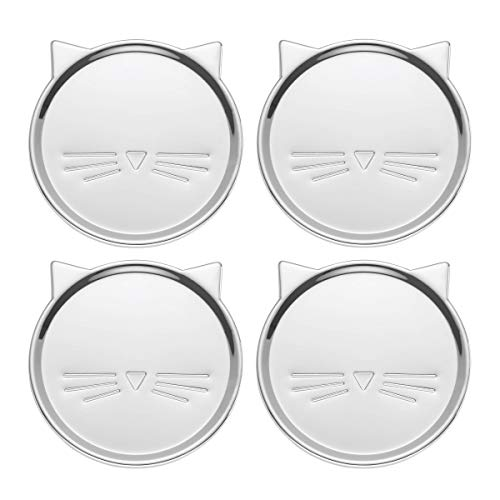 Kate Spade New York Silver Wit 3.75 Inches Cat Coaster Set of 4