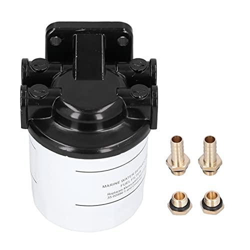 Yctze Kraftstoff-Wasserabscheider, Außenbordmotor aus Aluminiumlegierung Kraftstoff-Wasserabscheider-Filter-Kit 35-60494-1 10-um-Filter-Bewertung für Mercruiser-Außenbordmotor