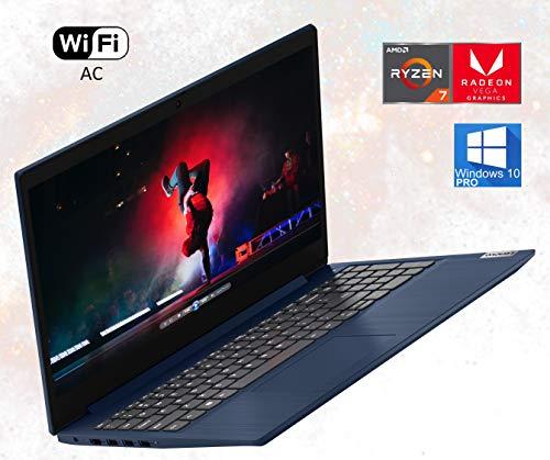 Lenovo IdeaPad 3 81W4 15.6' Laptop Computer: AMD Ryzen 7 4700u Upto 4.1GHz, 12GB RAM, 512GB NVMe SSD, 802.11AC Wi-Fi, Bluetooth 4.0, Card Reader, Webcam, HDMI - Windows 10 Pro