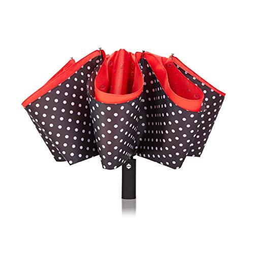 Buy VIWINVELA Inverted Automatic Umbrella Double Layer Windproof Reverse Folding Umbrella for Car Tr...