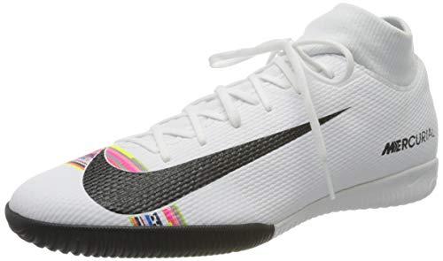 Nike Unisex-Erwachsene SuperflyX 6 Academy LVL UP IC Futsalschuhe, Mehrfarbig (White/Black/Pure Platinum 000), 46 EU