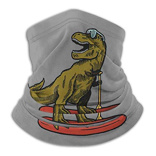 WH-CLA Face Scarf Dinosaurio Que Practica Surf con Gafas De Sol, Polaina para El Cuello, Deportes Sin Costuras, Protección contra El Polvo, Motocicleta, Sol, Reutilizable, Tubo, Bufanda,