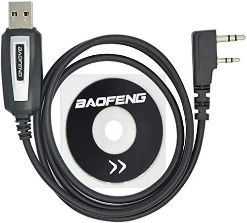 Dragon Trading Cable para programación Baofeng para radios portátiles de jamón bidireccional: UV-5R, 5RA, 5R Plus, 5RE, UV-82, bf F8HP, UV3R Plus, BF-888S, 5R EX, 5RX3, GA-2S, BF-F8+, H777 UV82HP