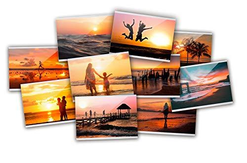 Close Up Magnetische Fototasche, Premium Kühlschrank-Fotorahmen, Bilderrahmen für Fotos & Postkarten, Fotohülle Magnet - transparent - 10x15 cm - 10er Set