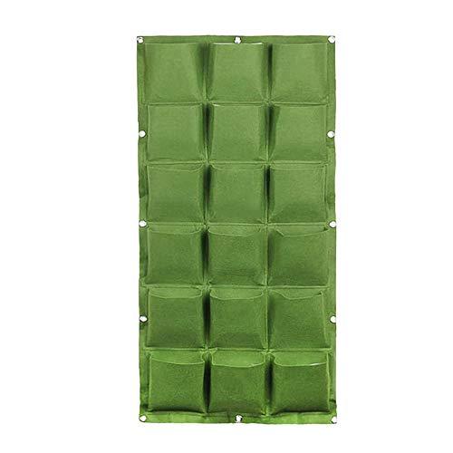 xiamenchangketongmaoyi Orto Verticale da Esterno Orto Verticale Parete Fioriere Vivere Fioriera Muro Esterno Fissato al Muro Fioriere All'aperto Green,18pockets