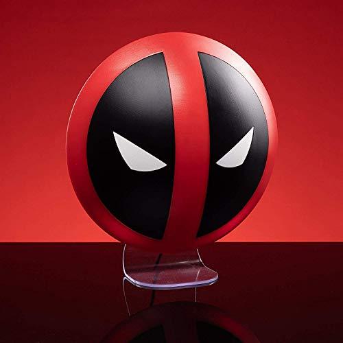 Marvel Lampe Deadpool bedruckt, aus Kunststoff, kommt in Geschenkkarton, inkl. USB Kabel.