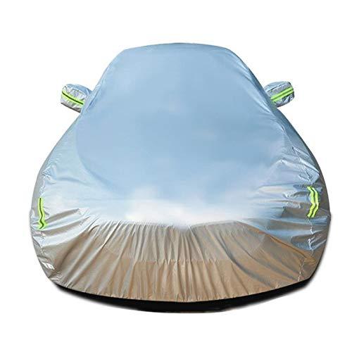 LIUFS Autoabdeckung Kompatibel Mit Jeep Compass High Altitude Autoplanen Mit Sonnencreme Wind- Und Wasserdichter Wirkung Hochflammhemmende Autoabdeckplane Mit SaugfäHiger Baumwolle