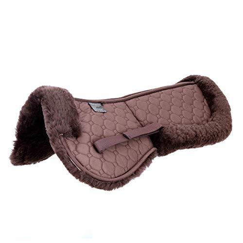 Merauno Lammfell Korrektur Pad Lammwolle Taschen Sattelkissen mit Klettband oder Reißverschluss 4 Stück Filzeinsätze enthalten echte Lammwolle und Gesteppte Baumwolle für Pony & Warmblut