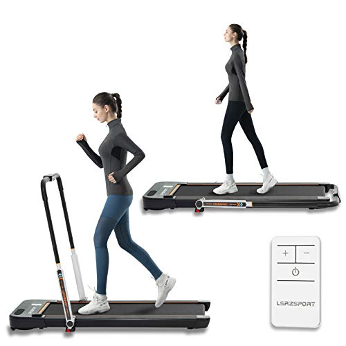 Folding Treadmill for Home Use Under Desk with Speaker Remote Control and LED Display Walking Jogging Machine for Small Spaces Low Noise Max.Loading 240lbs with Installation-Free