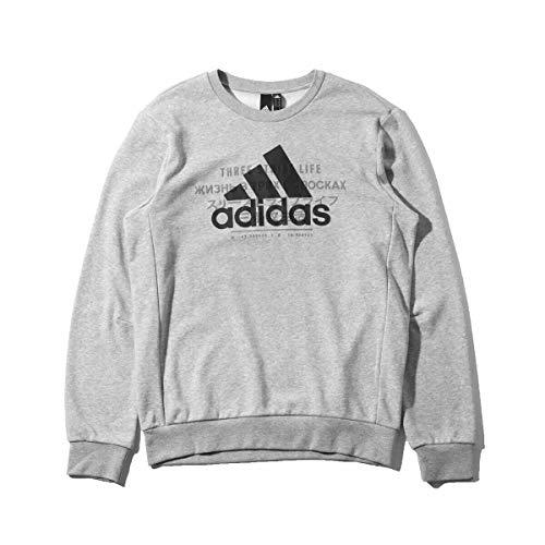 adidas Men Id Bos Grey Mens Sweatshirt L