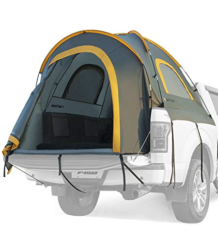 JoyTutus Pickup Truck Tent Waterproof PU2000mm Double Layer for 2Person Protable Truck Bed Tent Camping Preferred