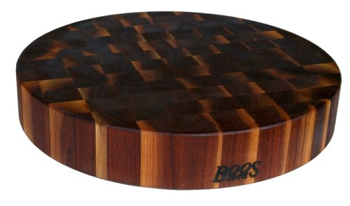 John Boos Block WAL-CCB183-R Classic Collection Walnut Wood End Grain Round Chopping Block, 18 Inches Round x 3 Inches