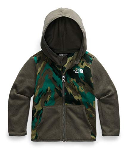 The North Face Toddler Glacier Full Zip Hoodie, Evergreen Mountain Camo Print, 6T