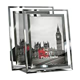 Giftgarden Cadre photo en verre au design simple, verre, 5 x 7 cm., 7 x 5